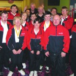 The Surrey Special Olympics team with members of Kingston Round Table